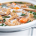 Wheat Berry and Wild Mushroom Soup with Whole-Wheat Pasta